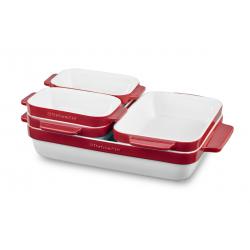 5 pcs Nesting Ceramic Bakeware Set