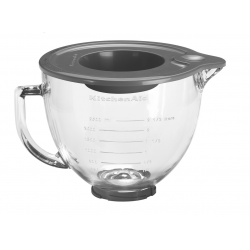 Glass bowl for mixers 4,83L