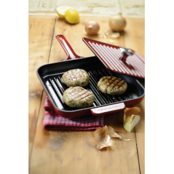 Cast iron Grill and Panini pan with the press