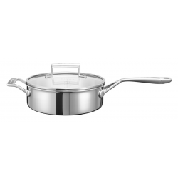 3-Ply, Sautepan with lid, 3,3 l (stainless steel)