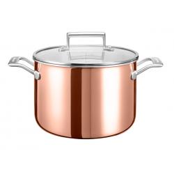 3-ply saucepan 24cm, 7.5L, copper